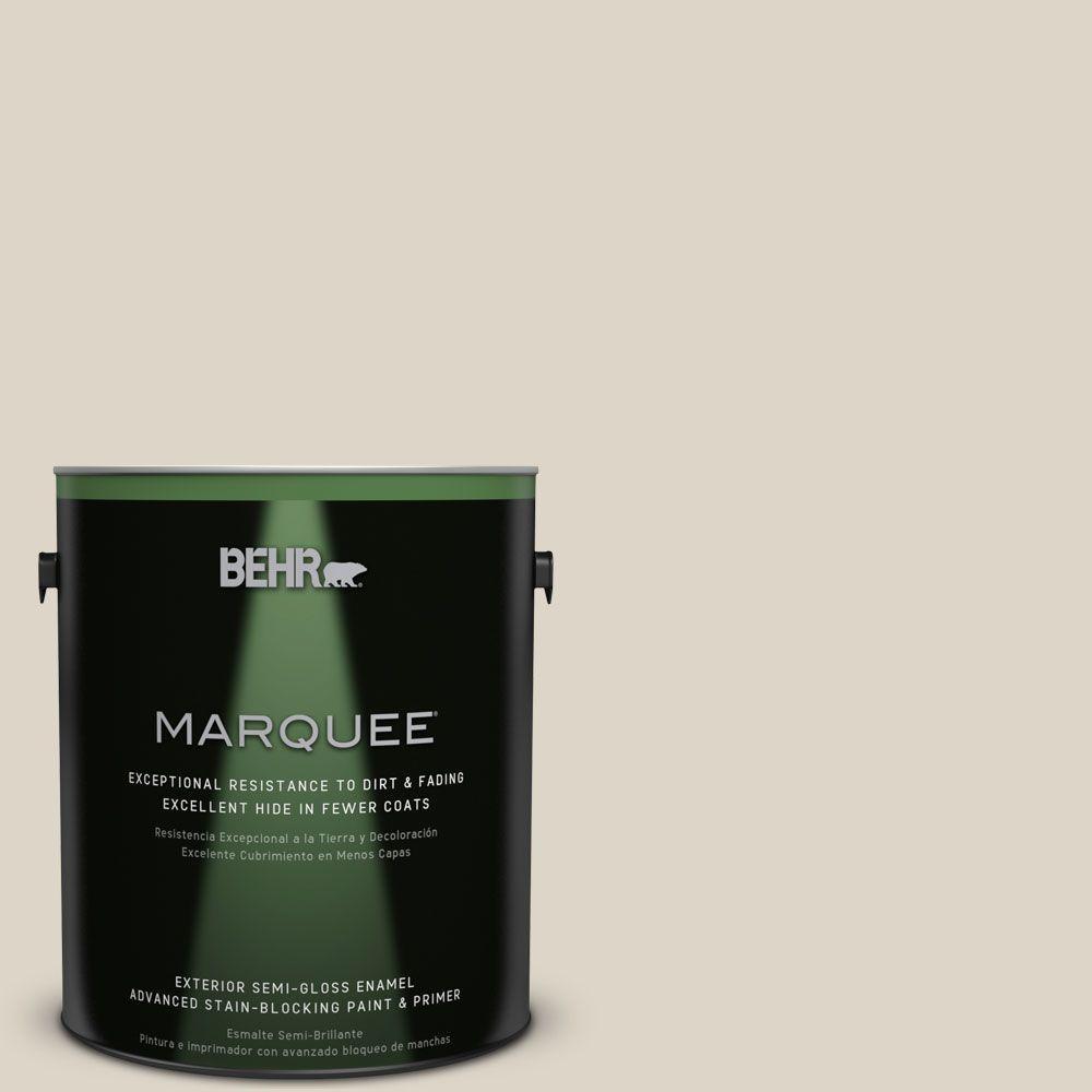 BEHR MARQUEE 1-gal. #N330-2 Prairie Dust Semi-Gloss Enamel Exterior Paint