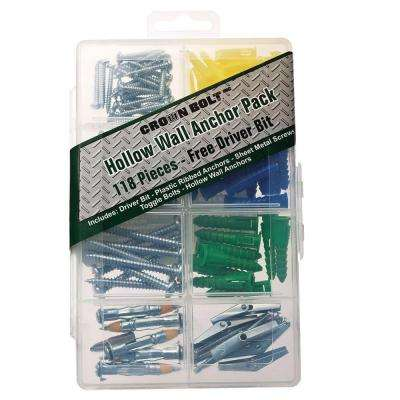 Hollow Wall Anchor Pack (118-Piece)