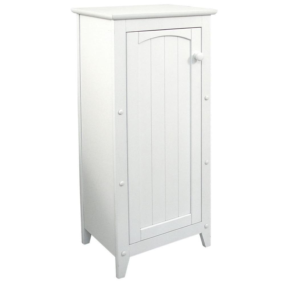 16-1/2 in. W x 36 in. H x 12-1/2 in. D Bathroom Linen Storage Cabinet in White