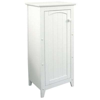 16-1/2 in. W x 36 in. H x 12-1/2 in. D Bathroom Linen Storage Cabinet in White