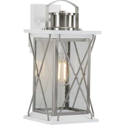 Barlowe 1-Light Stainless Steel Outdoor Medium Wall Lantern Sconce
