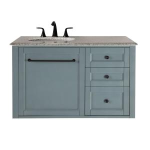 Home Decorators Collection Hamilton 39 inch W Wall Hung Single Vanity in Sea Glass with... by Home Decorators Collection