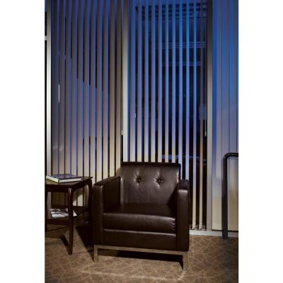 Wall Street Espresso Faux Leather Arm Chair