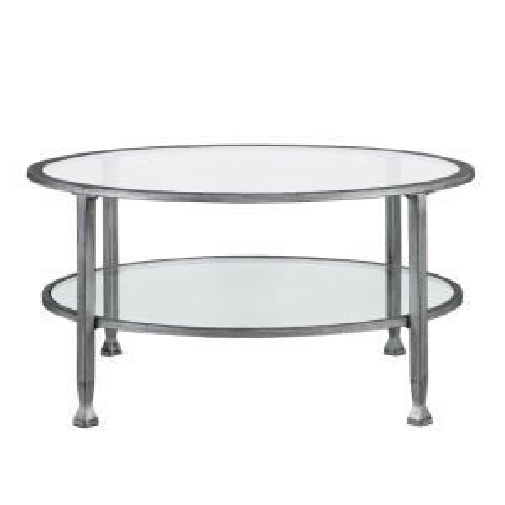 Southern Enterprises Galena Silver Round Tail Table