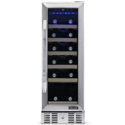 Single Zone 19-Bottle Built-In Compact Size Wine Cooler Fridge with Precision Digital Thermostat - Stainless Steel