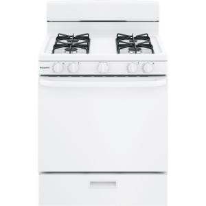 gas range oven in white