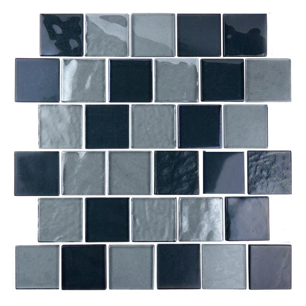 ABOLOS Landscape Gray Black Mix Translucent 12.25 in. x 12.25 in. x ...