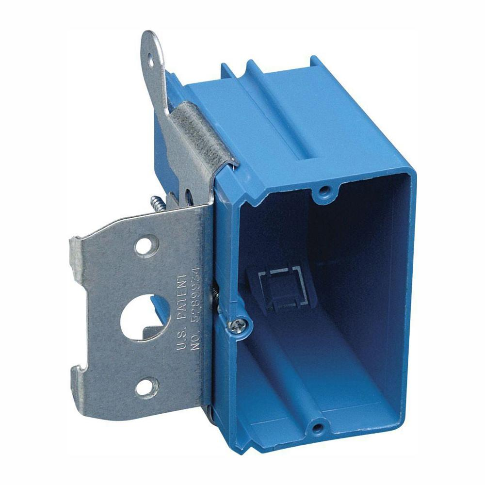 Carlon 1-Gang 21 cu. in. New Work Non-Metallic Electrical Wall Box with Adjustable Bracket (Case of 40)
