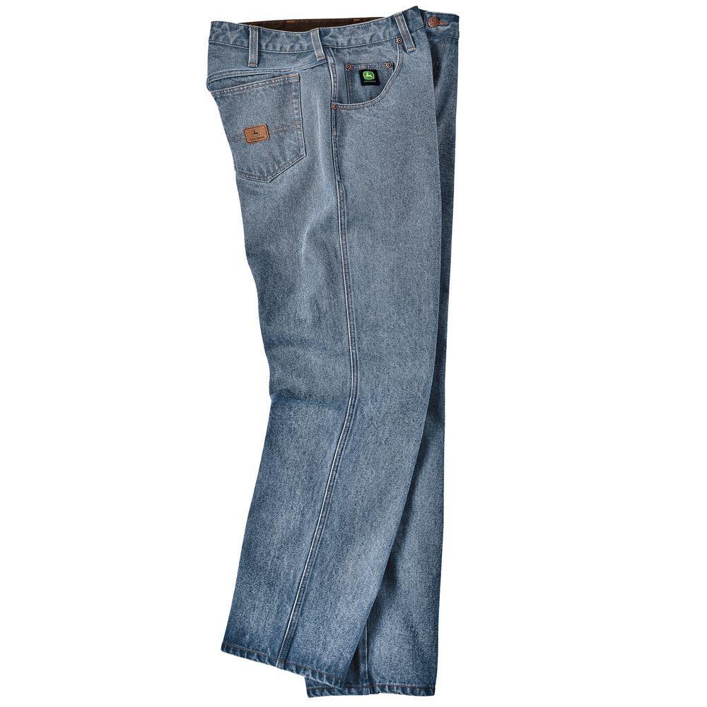 John Deere 32 in. x 32 in. Denim 5-Pocket Jean in Pepper Wash