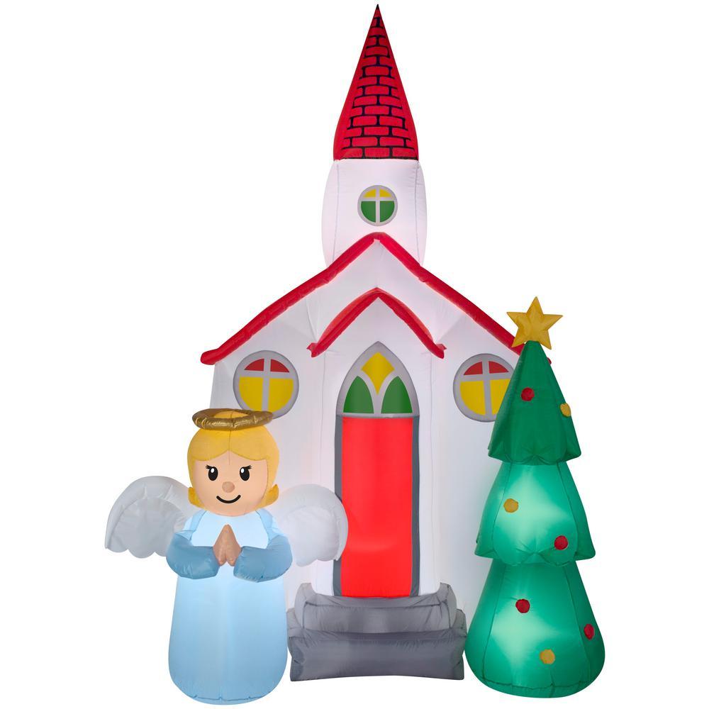Gemmy Christmas Inflatables 2019.Gemmy 7 5 Ft H Airblown Church