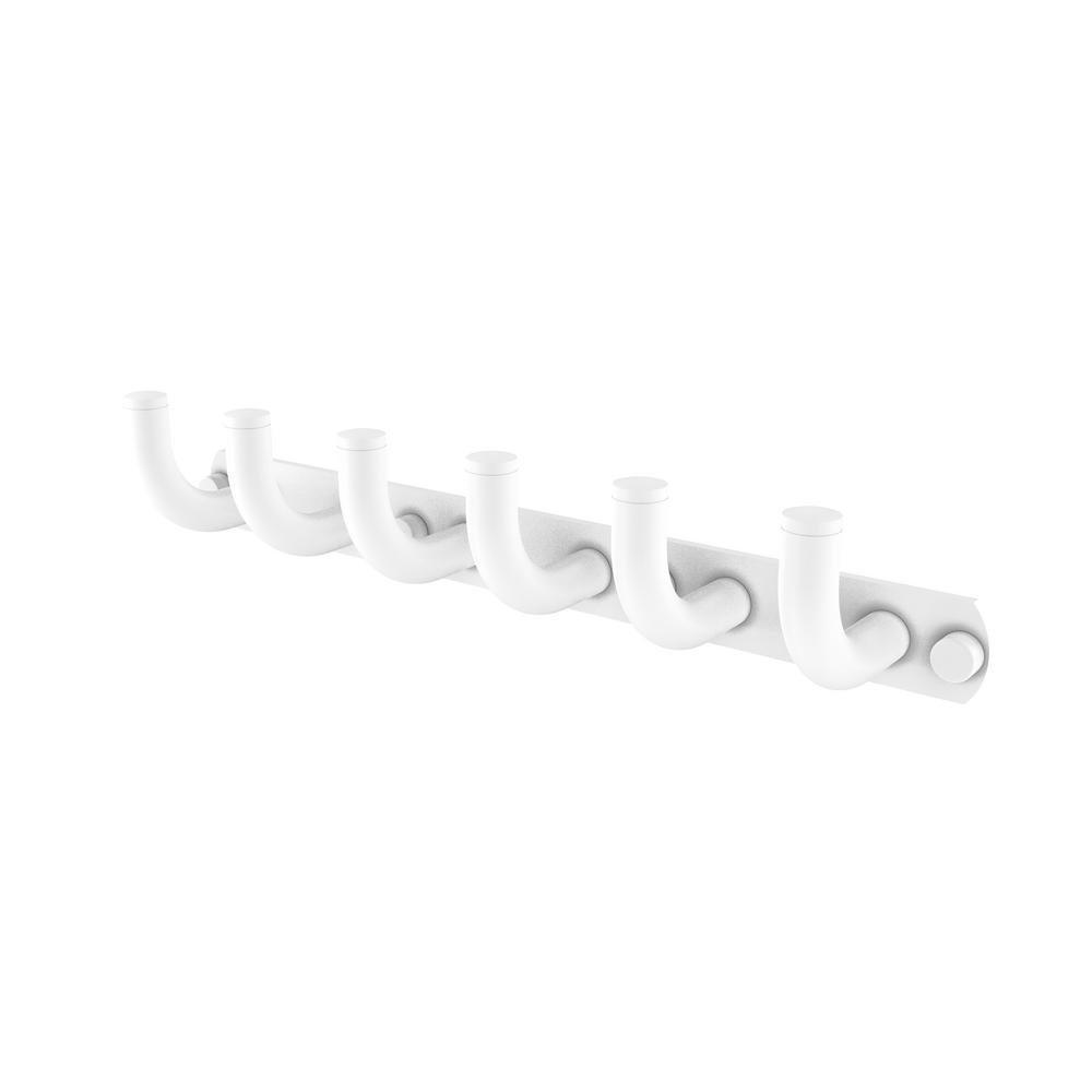 Allied Brass Remi Collection 6 Position Tie and Belt Rack in Matte White