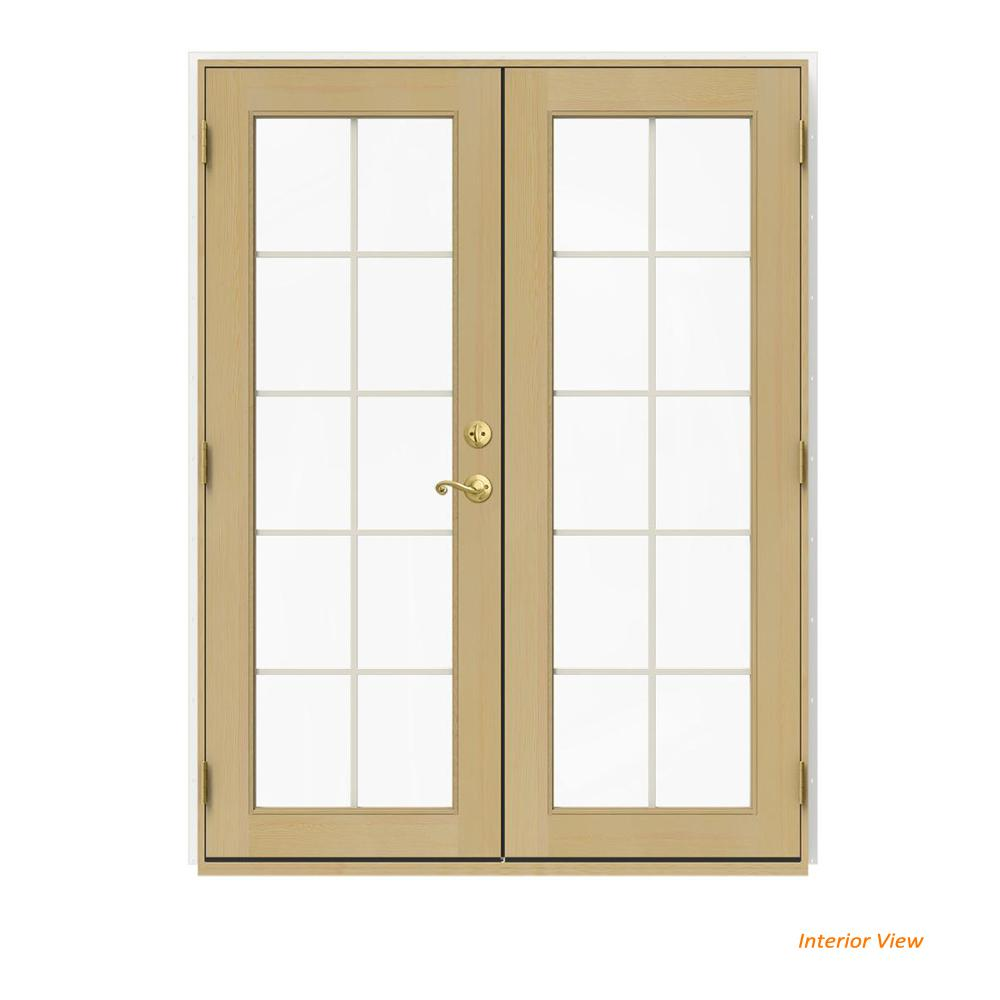 60 In. X 80 In. W 2500 White Clad Wood Right Hand