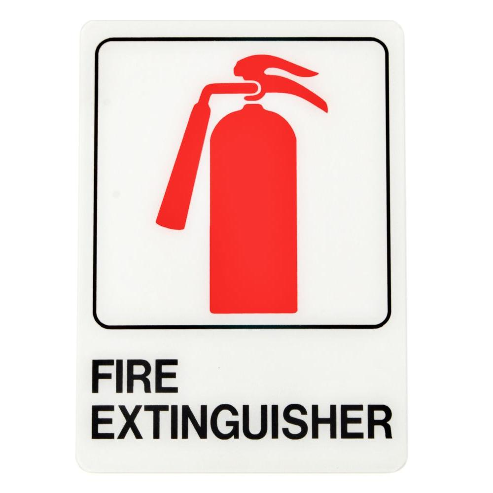 Hy Ko 10 In X 6 In Plastic Fire Extinguisher Sign D 16