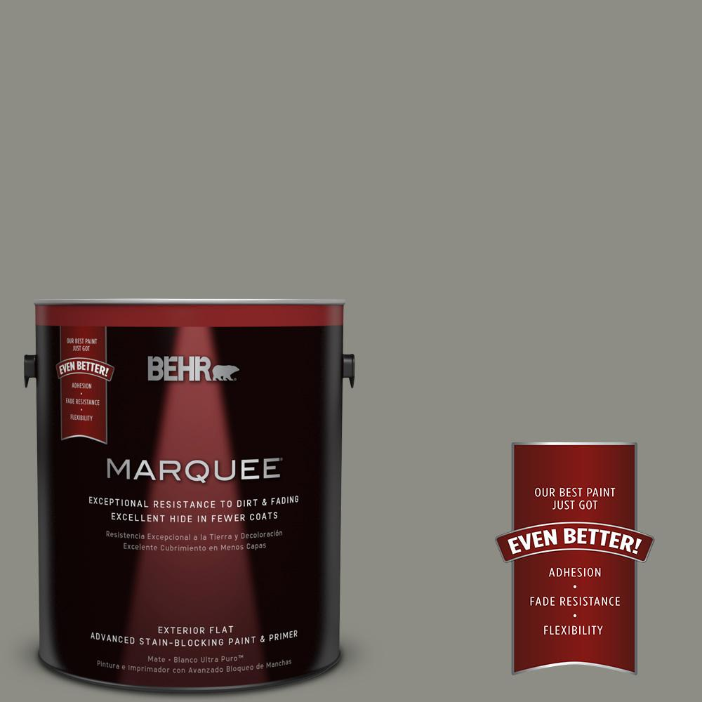 BEHR MARQUEE 1-gal. #N370-5 Incognito Flat Exterior Paint