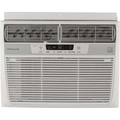 10,000 BTU 115-Volt Window-Mounted Compact Air Conditioner with Temperature Sensing Remote Control, White