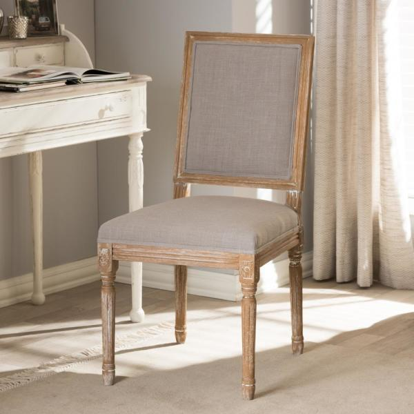 Baxton Studio Clairette Beige Fabric Upholstered Dining Chair 28862-6012-HD