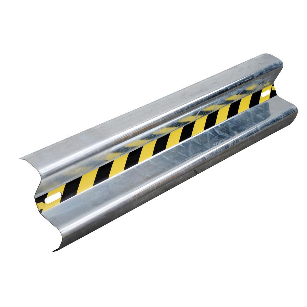 Vestil 48 in. Galvanized Steel Guard Rail-GR-H2R-BO-4-HDG - The Home Depot