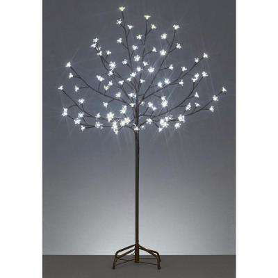 6 ft. LED Lighted Cherry Blossom Flower Tree and Warm White Lights