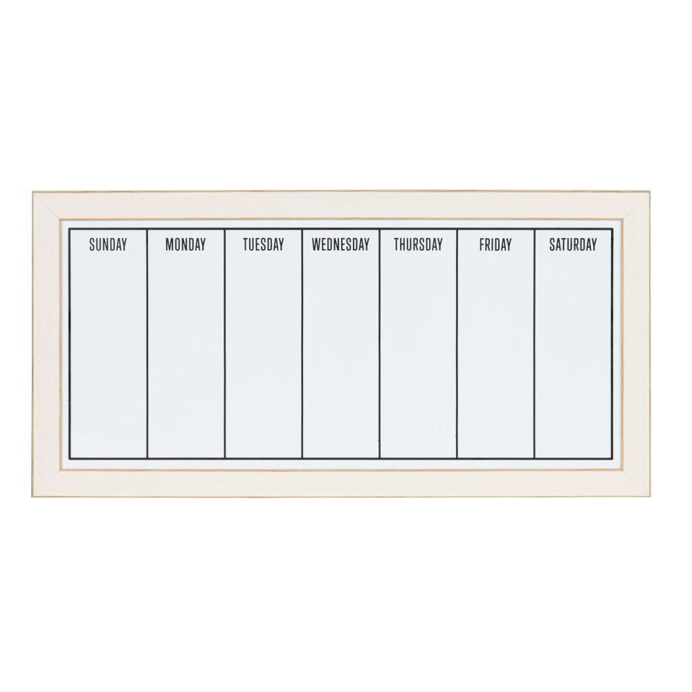 Designovation Wyeth Weekly Dry Erase Calendar Memo Board 211580