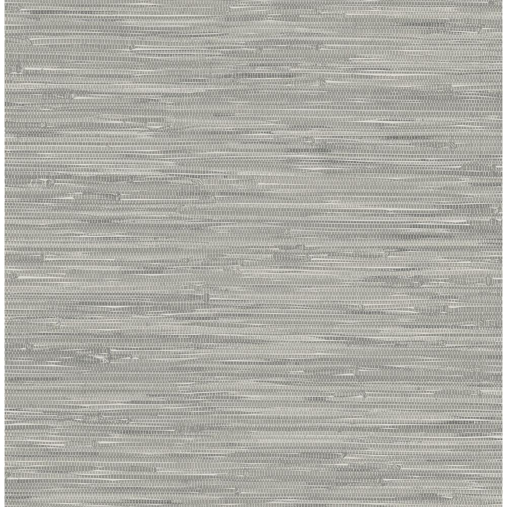 Nuwallpaper grey tibetan grasscloth peel and stick Temporary grasscloth wallpaper