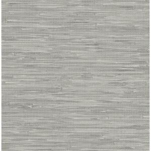 NuWallpaper Grey Tibetan Grasscloth Peel and Stick Wallpaper by NuWallpaper