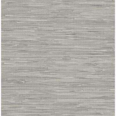Grey Tibetan Grasscloth Peel and Stick Wallpaper