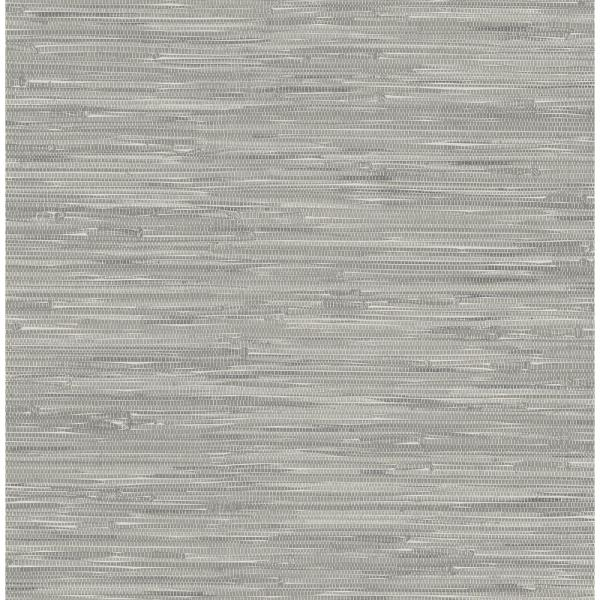 NuWallpaper Grey Tibetan Grasscloth Peel and Stick Wallpaper