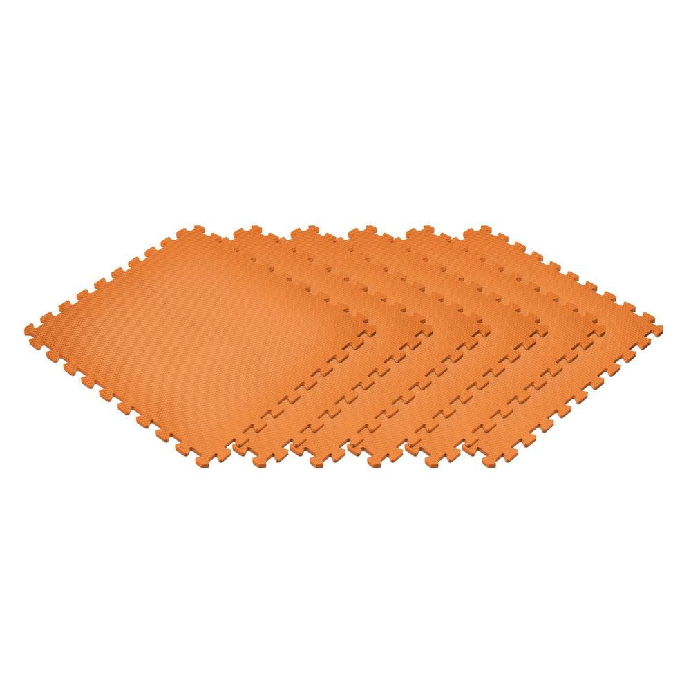 Orange 24 in. x 24 in. x 0.47 in. Foam Interlocking