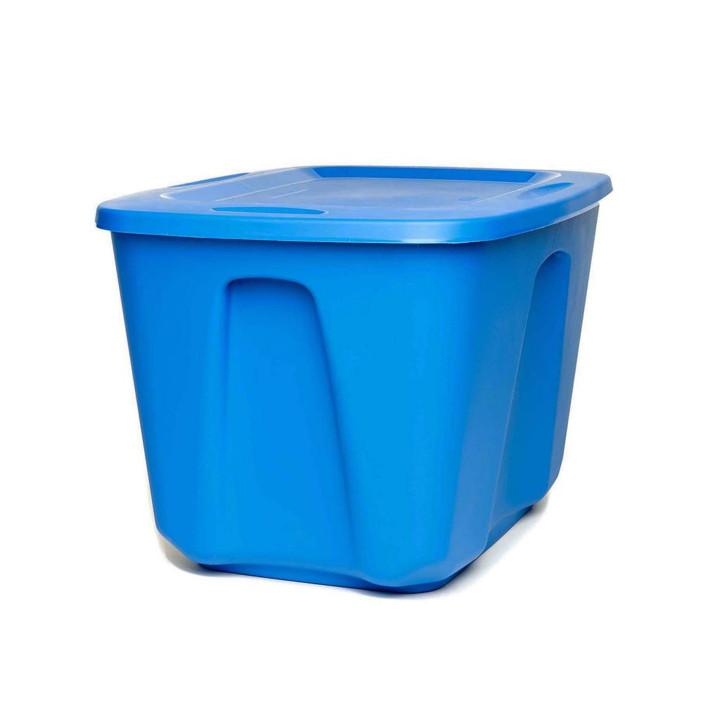 18 Gal. Storage Tote in Blue (4-Pack)