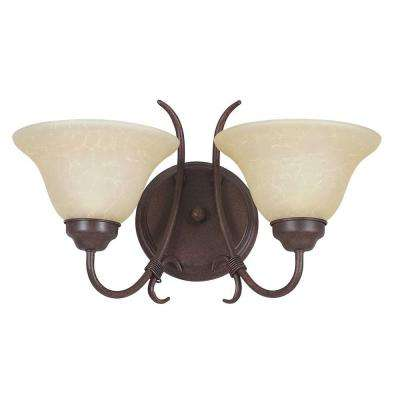 Pimentel 2-Light Oil-Rubbed Bronze Bath Vanity Light