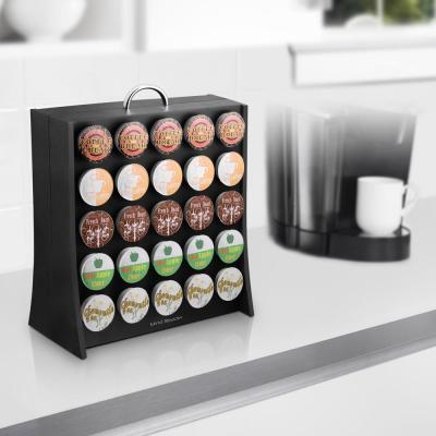 Wall 50-Capacity Black K-Cup Storage Rack