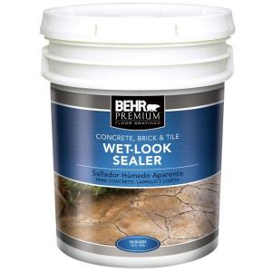 Behr Premium 5 Gal Wet Look Sealer 98505 The Home Depot