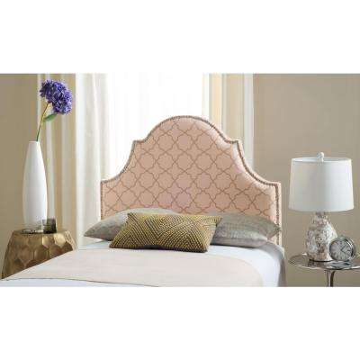 Hallmar Pale Pink and Beige Twin Headboard