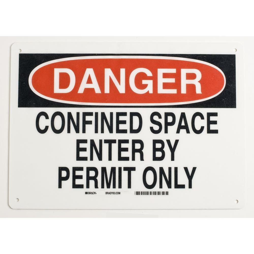 7 in. x 10 in. Fiberglass Confined Space Sign