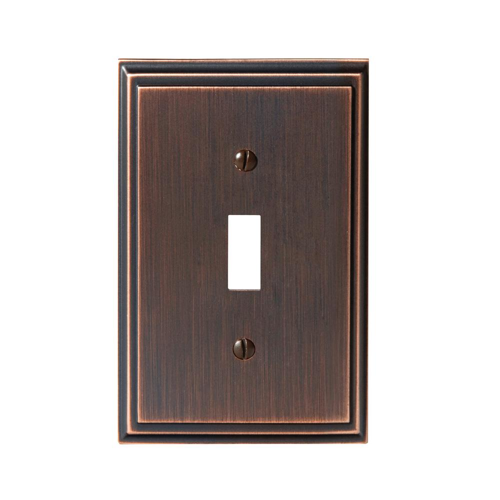 Amerock Mulholland 1 Toggle Wall Plate Oil Rubbed Bronze