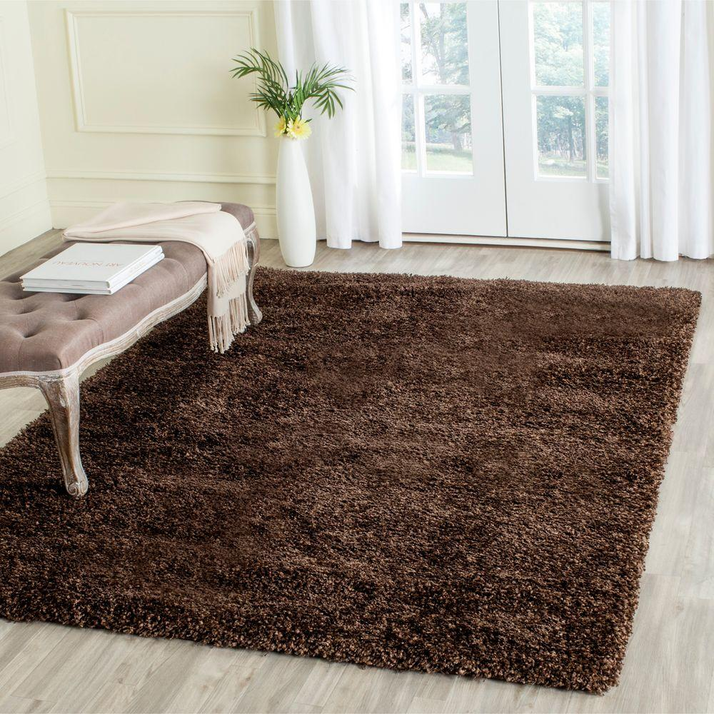 safavieh california shag brown 11 ft. x 15 ft. area rug-sg151-2727