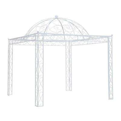 Holly Hill 10 ft. x 10 ft. White Steel Pavilion Pergola