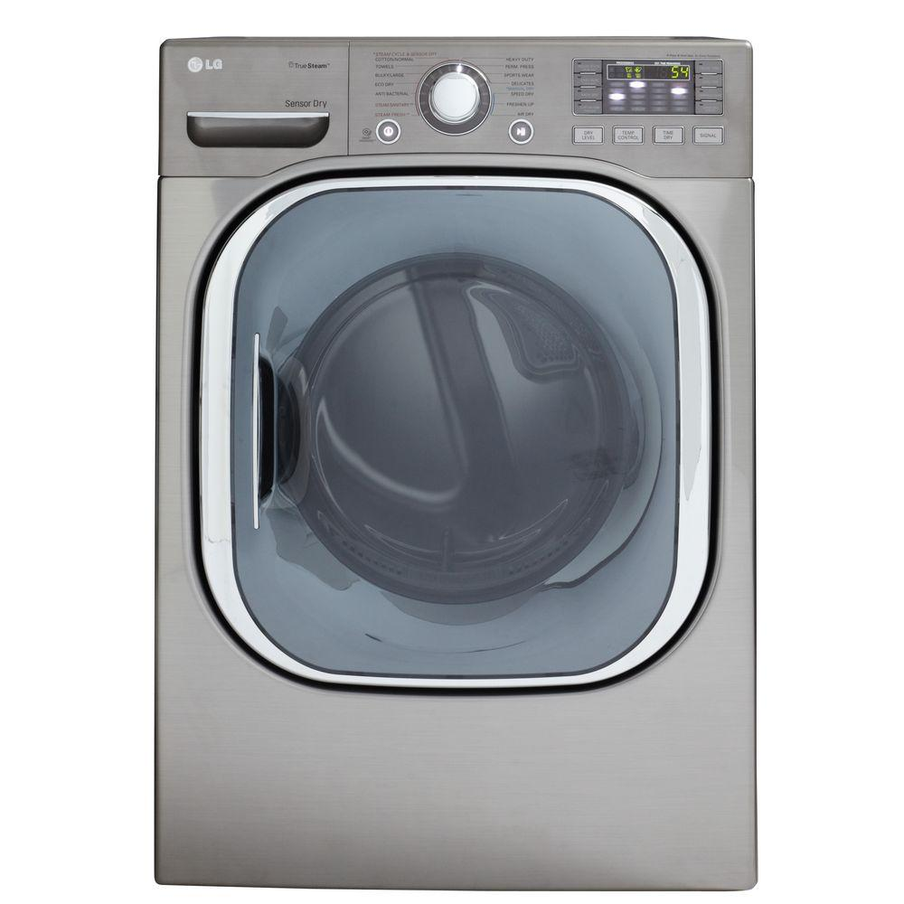 LG Electronics 7.4 cu. ft. Electric Dryer with Steam in Graphite Steel