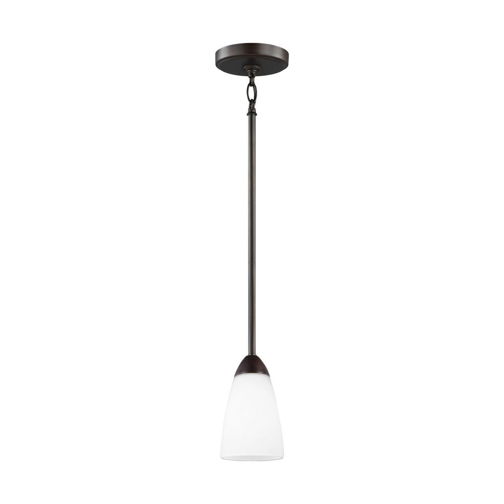 Seville 1-Light Burnt Sienna Mini-Pendant with LED Bulb
