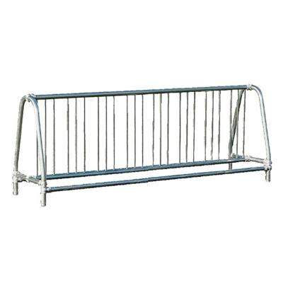 8 ft. Galvanized Commercial Park Double Sided Bike Rack Portable