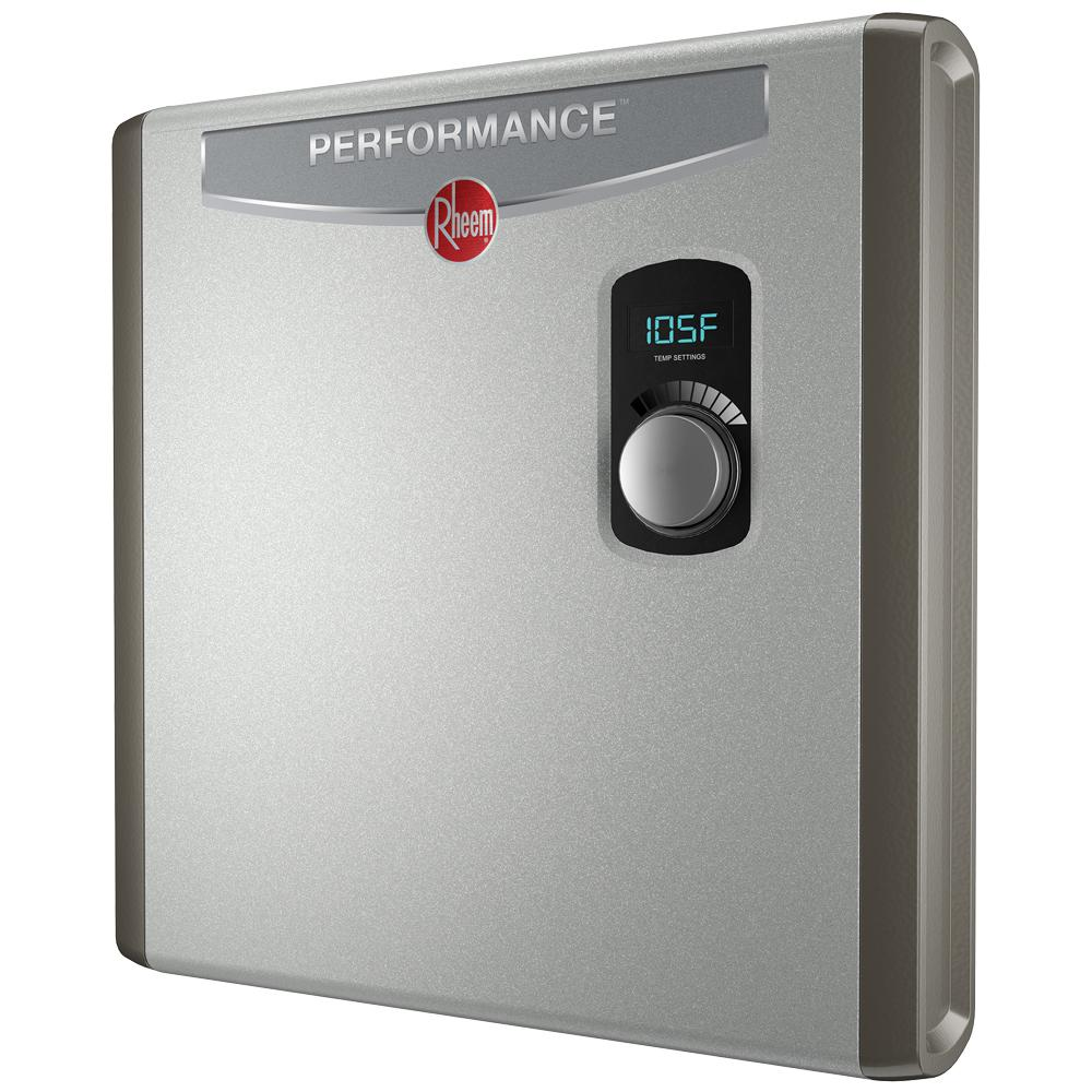 home depot tankless water heater rheem performance 24 kw self modulating 4 6 gpm electric 10137