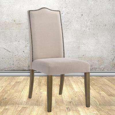 Romero Cream Linen Parsons Dining Chair