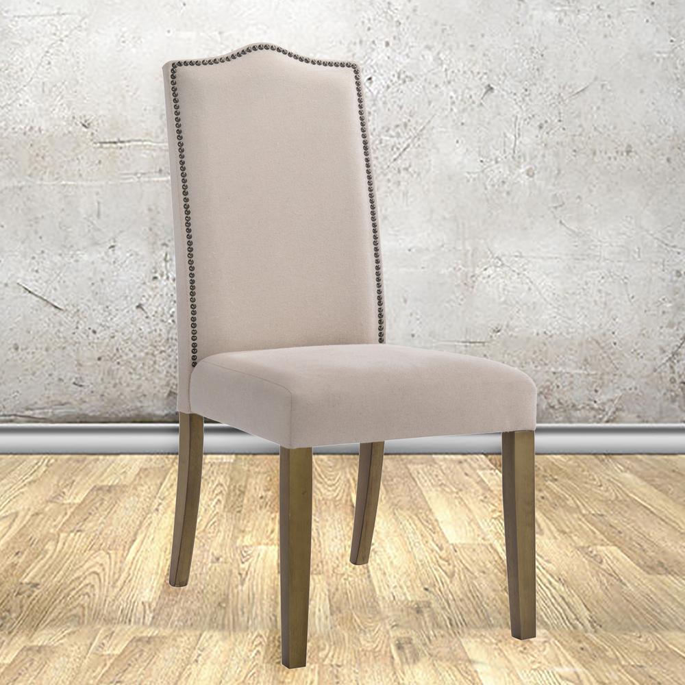 Romero Cream Linen Parsons Dining Chair