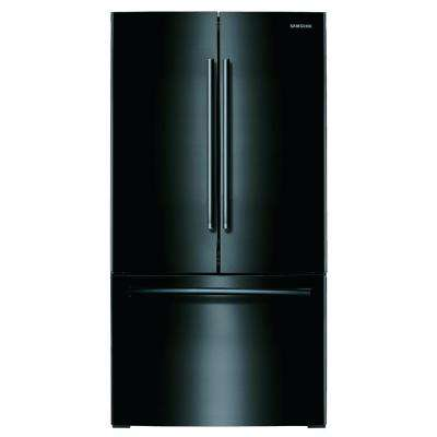 25.5 cu. ft. French Door Refrigerator with Internal Water Dispenser in Black