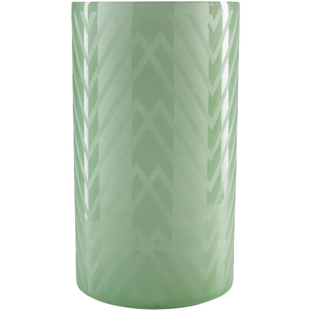Ooldo 17.5 in. Sage Glass Candle Holder