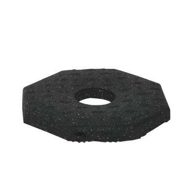 10 lb. Black Rubber Delineator Base