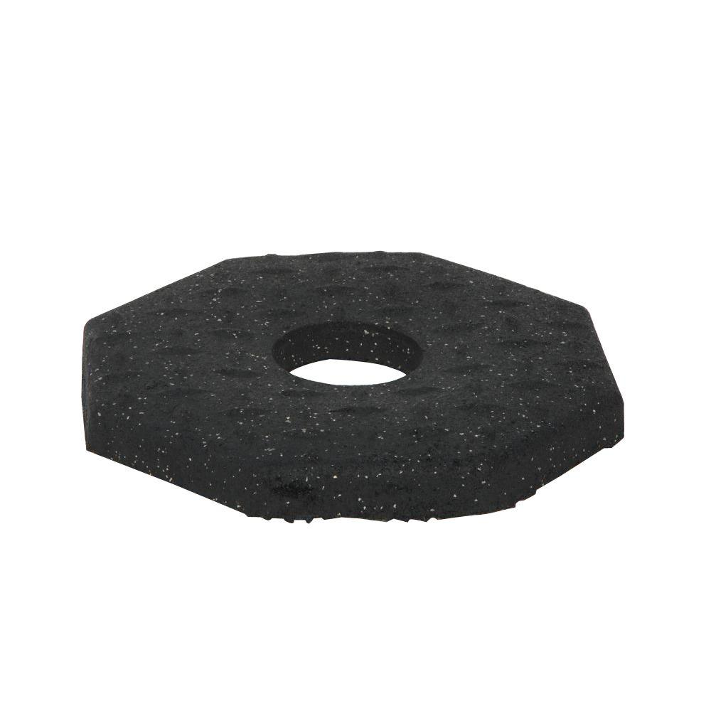 Three D Traffic Works 10 Lb Black Rubber Delineator Base 504913