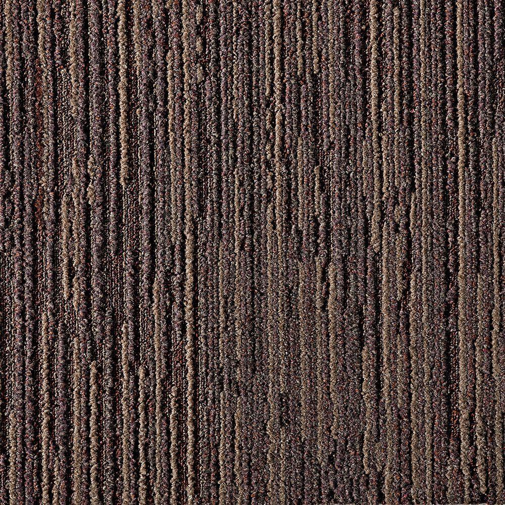 Fully Barked Mahogany 19.7 in. x 19.7 in. Carpet Tile (6 Tiles/Case)