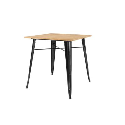 Finwick Black Metal Square Dining Table for 4 (31.5 in. L x 29.13 in. H)