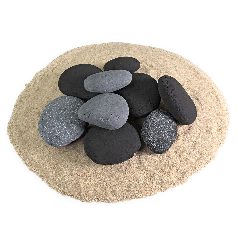 Ceramic River Rock Pebbles Fireproof Decorative Stones for Fire Pits and